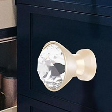 Drawer Handle Metal+Crystal Durable Elegant