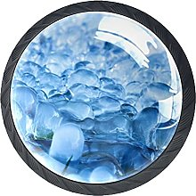 Drawer Knobs Blue Melting ice Cabinet Drawer Pulls