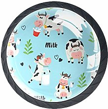 Drawer Knobs Cartoon Cow Cabinet knobs and Handles