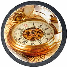 Drawer Knobs Classical Clocks Watches Matte Black
