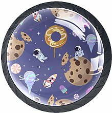 Drawer Knobs Cute Donuts Astronaut Space Crystal