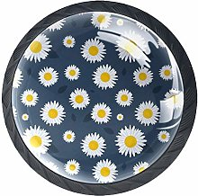 Drawer Knobs Daisies Flower Cabinet knobs and