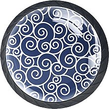 Drawer Knobs Exotic Fairy Cloud Pattern Cabinet