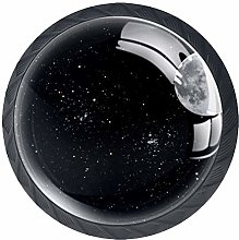 Drawer Knobs Galaxy Space Universe Moon Crystal