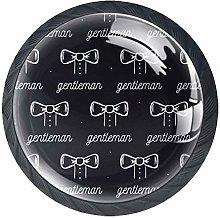 Drawer Knobs Gentleman Pattern Crystal Cabinet