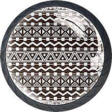 Drawer Knobs Geometric Indian Pattern Cabinet