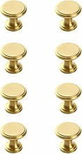 Drawer knobs,Golden Simple Brass Handles 8