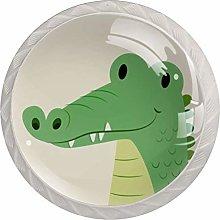 Drawer Knobs Kids Cartoon Green Dinosaur Dresser