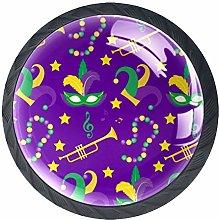 Drawer Knobs Mardi Gras Carnival Crystal Cabinet