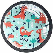 Drawer Knobs Pull Handle Cute Red Dinosaurs