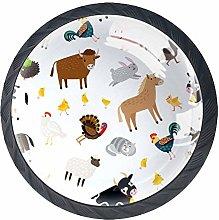 Drawer Knobs Pull Handle Farm Animals Cabinet