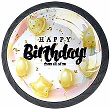 Drawer Knobs Pull Handle Happy Birthday Cabinet