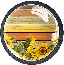 Drawer Knobs Pull Handle Sunflowers and Leaves