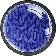 Drawer Knobs Purple Maze Pattern Cabinet Drawer
