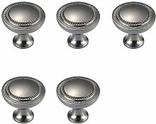 Drawer knobs,zinc Alloy Round Handle 5pcs European