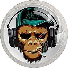 Drawer Pull Handle with Screws Animal Orangutan
