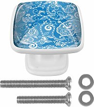 Drawer Pull Handle with Screws Blue Classic DIY