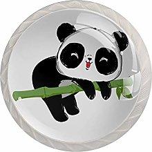 Drawer Pull Handle with Screws Cartoon Panda
