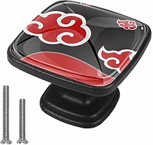 Drawer Pull Handle with Screws Cartoon red Cloud