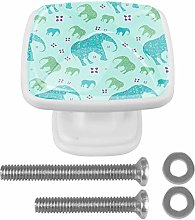 Drawer Pull Handle with Screws Colorful Elephant