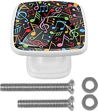 Drawer Pull Handle with Screws Colorful Music Note