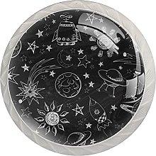Drawer Pull Handle with Screws Cosmic Galaxy DIY