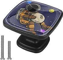 Drawer Pull Handle with Screws Cosmonaut Planet