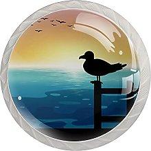 Drawer Pull Handle with Screws Duck Bird Sea DIY