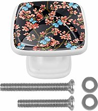 Drawer Pull Handle with Screws Flowers and