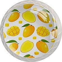 Drawer Pull Handle with Screws Mango DIY Glass