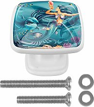 Drawer Pull Handle with Screws Mermaid Marine