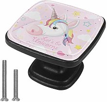 Drawer Pull Handle with Screws Pink Cartoon