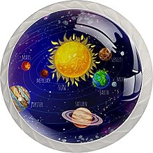 Drawer Pull Handle with Screws Planets Starry Sky