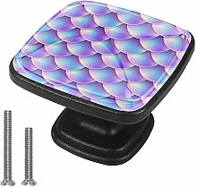 Drawer Pull Handle with Screws Purple Fish Scales