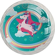 Drawer Pull Handle with Screws Rainbow Unicorn DIY