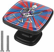 Drawer Pull Handle with Screws Skeleton Skull Rock