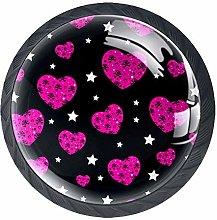 Drawer Pull Handle with Screws Stars Pink Love DIY