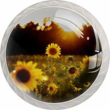 Drawer Pull Handle with Screws Sunflower at Dusk