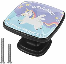 Drawer Pull Handle with Screws Unicorn Clouds DIY