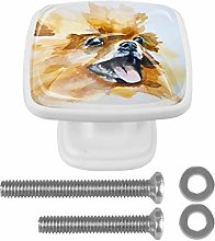 Drawer Pull Handle with Screws Watercolor Animal
