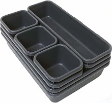 Drawer Tray Organiser Divider Storage Plastic Dark