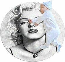 Drawing actress round rug non-slip back machine