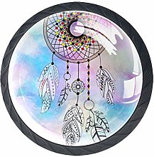 Dream Catcher Colorful Watercolor Painting 4 Packs
