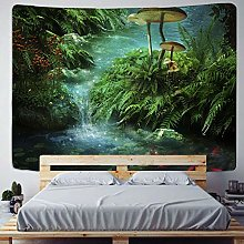 Dream forest tapestry mushroom wall hanging beach
