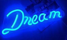 Dream LED Neon Sign: Capital D