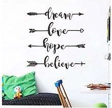 Dream Love Hope Believe Art English Wall