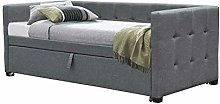 Dream Warehouse Holyrood Fabic Day Bed - Charcoal
