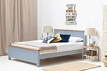 Dream Warehouse Rostherne Grey Wooden Double Bed
