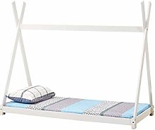 Dream Warehouse Tent Tipi Wooden Single Bed White