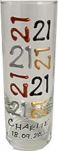Dreamair Personalised 21st Birthday Shot Glass